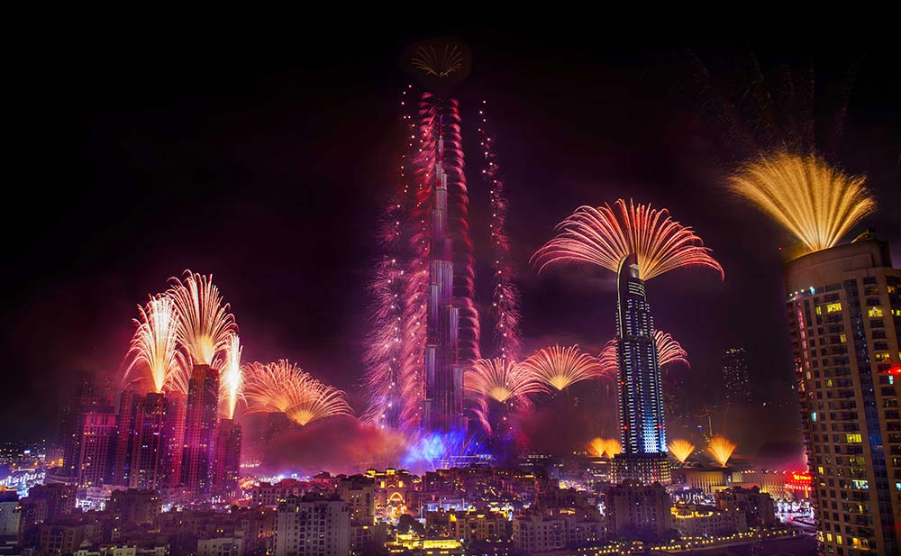 Fireworks Display at the Burj Khalifa