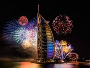 Dubai firework during new year