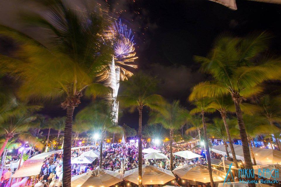 Nikki Beach New Year party celebration