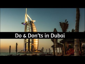 Do and Don'ts in dubai