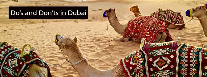 Do's and Don'ts in Dubai