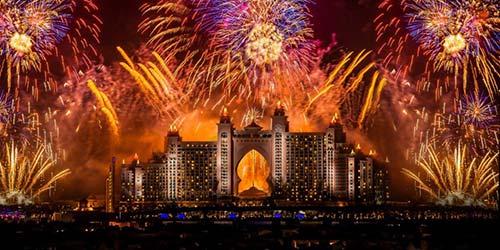 Atlantis Fireworks on New Years Eve