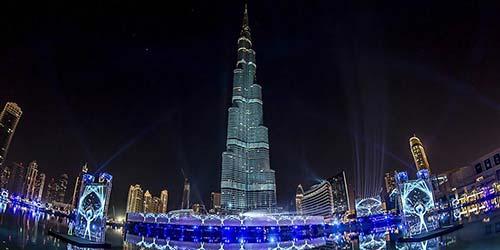 Burj Khalifa Dubai Downtown Fireworks