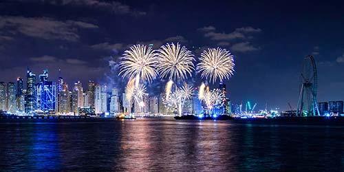 Dubai Beach Fireworks