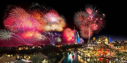 Madinat Jumeirah Fireworks Dubai