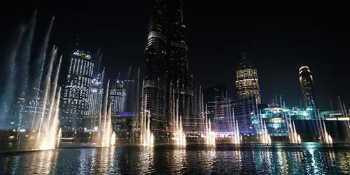 Dubai Fountain in Dubai Mall